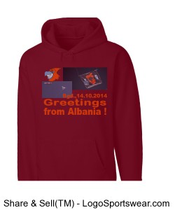 Mens Basic Fleece Pullover Hoodie Design Zoom